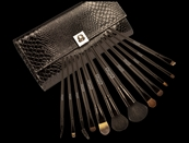 12 Piece Moc Croc Luxurious Brush Set